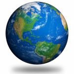 Isolated Planet Earth showing North America