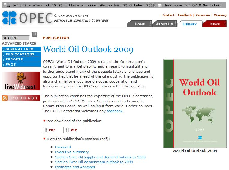 2009 World Oil Outlook